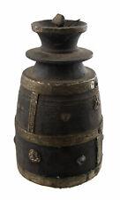 Antique Grand Pot à lait Ghee Tsampa beurre teki bois Art primitif Nepal 26817