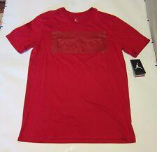 Nike Air Jordan Dri-Fit Cotton Tee T-Shirt  Red M 801049-687