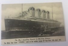 Rare, Vintage Titanic Post Card, Un-Used (Made in England)