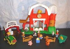 Fisher Price Little People farm stable barn turkey tractor large lot