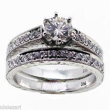 Round Diamond Engagement Ring & Band 1.09 ct  14k gold