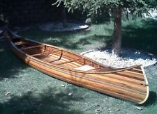 Wood Strip Built Canoe 17' L Wooden Boat without Ribs - Custom Hand Built - New