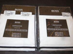 2 Hugo Boss Spirit White Jacquard Euro Shams Egyptian Cotton Yves Delorme