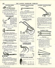 1939 ADVERT Atlam Not Nac Garden Cultivators Plow