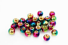 24 pcs/lot Rainbow Tungsten Beads 4.7mm Heavy Jig Nymph Head Fly Tying Materials