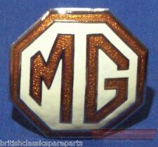 Grille, Bonet Badge, Cream/Brown - MG TD, MG TF, MG Magnette ZA, ZB