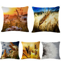 Farm Dandelion Corn Cotton Linen Pillow Case Throw Cushion Cover Home Decor 18""