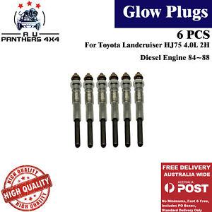 Glow Plugs for Toyota Landcruiser HJ75 4.0L 2H Diesel Engine 84~88 12V