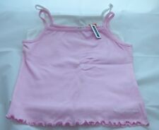 girls 2 vest  t shirts, one white , one pink - age 9 - 10 yrs - new without tags