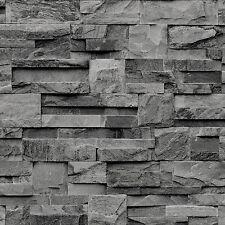 Galerie Bluff Textured Feature Wallpaper 3d Brick Slate Effect J27409