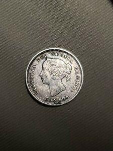 1888 CANADA 5 CENTS SILVER COIN