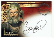 The Scorpion King Movie Inkworks Autograph Card A2 Bernard Hill as Philos