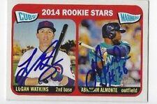 Logan Watkins & Abraham Almonte Dual Signed 2014 Topps Heritage Rookie Card #166