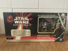 Star Wars Episode I Jeu de cartes duel sabres laser Qui-Gon Jinn/Darth Maul MB