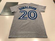 Toronto Blue Jays Road Steel Heather Josh Donaldson Small Name Number T Shirt