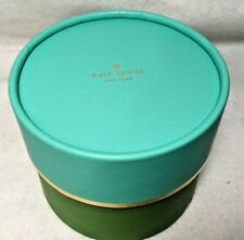 "Kate Spade Round Gift Box  (4.5"" X 3.75"") Empty Display"