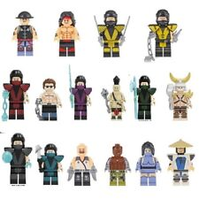 Set Game Mortal Kombat Boss Goro Cage Shao Raiden Scorpion Lego Moc Mr Gold C3P0
