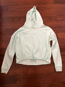 Girl's Justice Active Mint Green Cropped Hooded Sweatshirt Size 18-20-Runs Small
