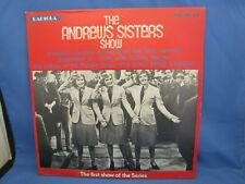 THE ANDREW SISTERS SHOW RECORD ALBUM LP 33 VINTAGE 1974 MR-1033 CLASSIC PERFORMR