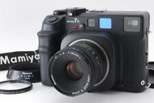 【UNUSED】Mamiya 7II Black 7 II 6x7 Film + N 80mm F4 L + Strap Hood From Japan 971