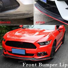 Universal 8FT Front Bumper Lip Splitter Chin Spoiler Body Kit RED Trim For Mazda