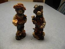 2, 5 inch tall heavy plastic type material bear figurines