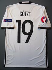 5+/5 SIZE S GERMANY HOME 2016 #19 GOTZE ORIGINAL FOOTBALL ADIDAS AI5014