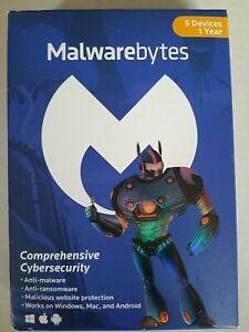 Malwarebytes Anti-Malware - 5 Device / 1 Year [Key Card]