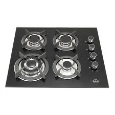 Brand New 59cm GAS Glass Panel Cooktop Stove Cook Top 4 with Burner Wok
