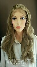 RIANNE | ASH BLONDE |SYNTHETIC STRAIGHT LONG LACE FRONT WIG | SLEEK FASHION IDOL