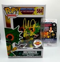"ALAN OPPENHEIMER Signed ""Masters of Universe ~ MERMAN"" FUNKO POP Vinyl (JSA COA)"