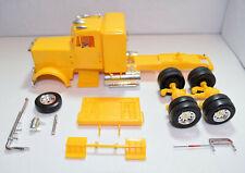 Model Kit of a Peterbuilt Sleeper Cab Partially Built