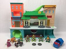 Teenage Mutant Ninja Turtles Half Shell Heroes Sewer Lair Playset w/ 8 Figures +