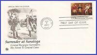USA5 #1728 U/A PCS ARTCRAFT FDC   Surrender at Saratoga