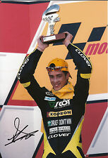 Andrea DOVIZIOSO hand signed scozzese RACING HONDA 12x8 FOTO 2004 125cc CHAMPION.