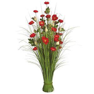 Bunch of flowers poppy / grass Decorative Artificial Plant 70cm