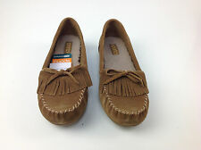 Sporto® Suede Loafer with Fringe Detail, Brown, Size 6 Med.
