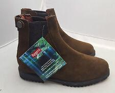 Regent Moulton Ladies rear Zip Brown Suede Jodhpur Boots Size 3