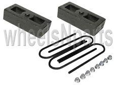 "2"" lowering blocks cast steel fits chevy S10 Sonoma drop kit & rear axle u bolts"