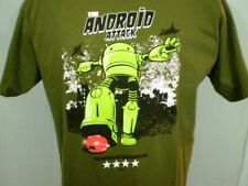 TeeFURY Green XL T-Shirt The Android Attack Cotton
