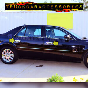 For CADILLAC DTS 2006 2007 2008 2009 2010 2011 Chrome 4 Door Handle Covers w/o