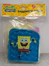 SpongeBob Squarepants Sandwich Sav'r Saver Holder Container Bpa Free Plastic