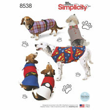 Simplicity SEWING PATTERN 8538 Dog Coats In 3 Sizes