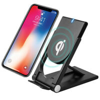 Qi Wireless Rápido Base Cargador Inalambrico Stand para Apple iPhone X 8Plus S1