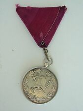 ROMANIAN KINGDOM  FIRE FIGHTER MEDAL FOR 25 YEARS SERVICE IN SIBIU. SILVER. RARE