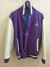 Air Jordan All World Letterman Jacket Varsity Leather Sleeve 2010 Purple
