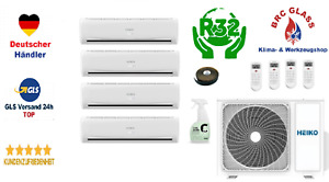 HEIKO 4-Raum Multisplit Klimaanlage SET 4 x 2,6  kW A++/A+ M5T100-D1 R32 R+B