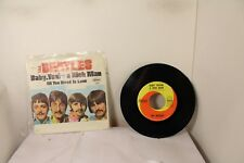 "the beatles all you need is love baby you're a rich man 7"" 45rpm"