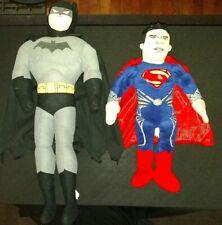 PLUSH JUSTICE LEAGUE BATMAN + MAN OF STEEL SUPERMAN PLUSH.FREE SHIPPING