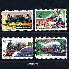 1979 - Australia Australian Steam Locomotives - set of 4 trains railways engines